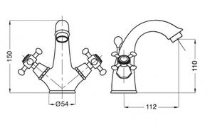 Смеситель для раковины Migliore Lady BN.LAD-934