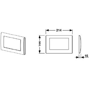 Панель смыва TECEplanus с 1 клавишей нержавеющая сталь, сатин арт. 9240310