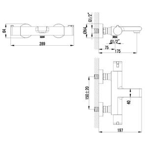 LeMark Термостат для ванны Yeti LM7832C