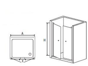 Душевая дверь RGW PA-04 120х185 см, прозрачное стекло 04080420-11