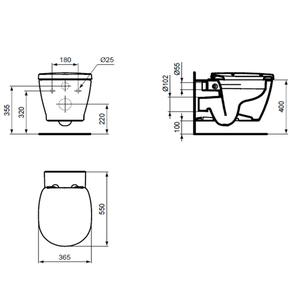 Унитаз подвесной Ideal Standard Connect Aquablade E814901
